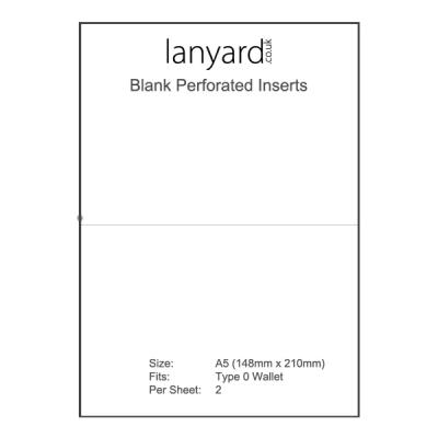 A4 Perforated Badge Insert Sheets - 148mm x 210mm (A5)