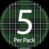 Tartan 5 per Pack Icon