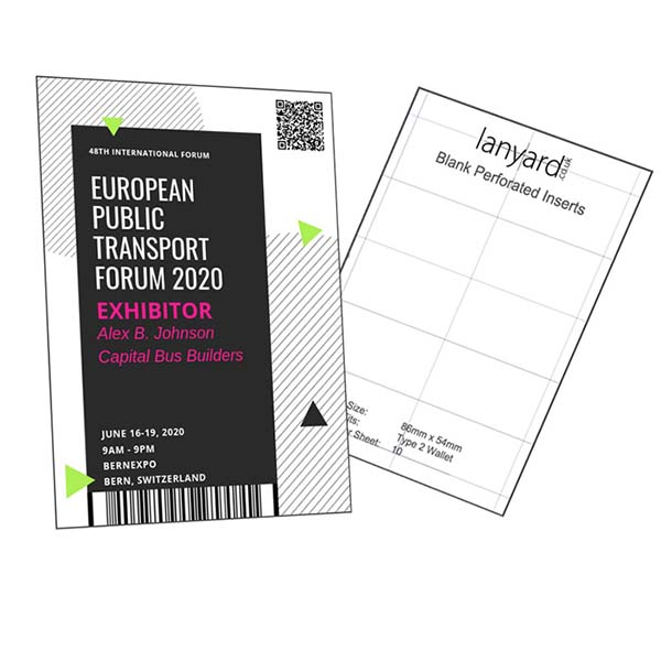 Blank ID Cards & Inserts